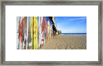 Surfing Off The Pier Framed Print by David Lee Thompson