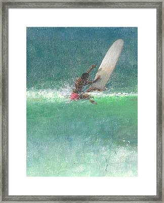 Surfing  One Framed Print