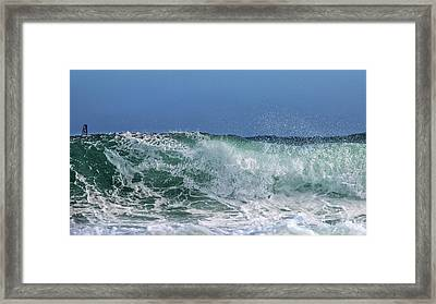 Surfing Out  Framed Print by Stelios Kleanthous