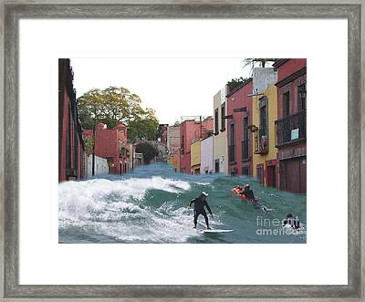 Framed Print featuring the photograph Surfing Quebrada by John  Kolenberg