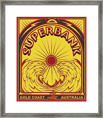 Surfing Sduperbanks Gold Coast Australia Framed Print by Larry Butterworth