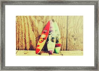 Surfing Still Life Artwork Framed Print