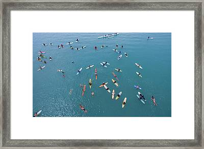 Surfing Synergy Framed Print by David Levy