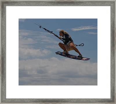 Surfing The Clouds Framed Print by Joe Teceno