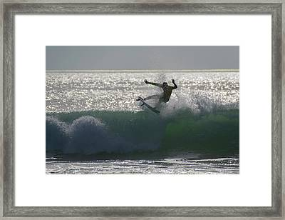 Surfing The Light Framed Print by Thierry Bouriat