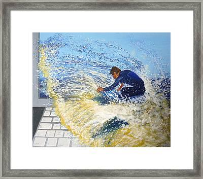 Surfing The Net Framed Print by Bill Ogg