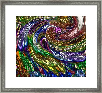 Surfing The Oil Spill Framed Print