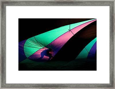 Surfing The Silk Framed Print by Mike  Dawson