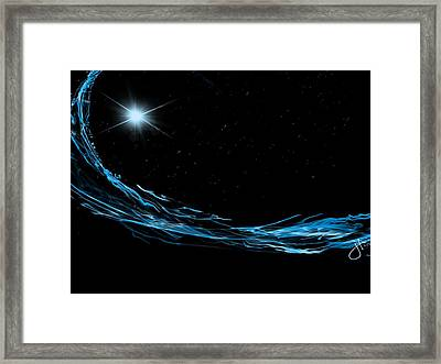 Surfing The Stars Framed Print