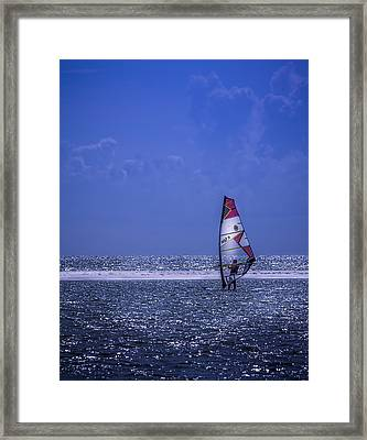 Surfing The Wind Framed Print by Marvin Spates