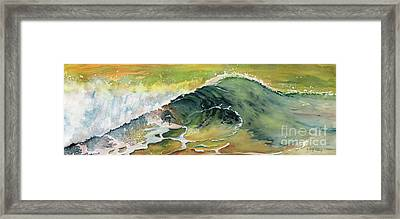 Surfing Watercolor Art Framed Print by Melly Terpening