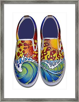 Surf's Up Framed Print by Adam Johnson