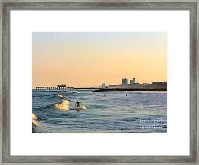 Surf's Up Framed Print by Arthur Herold Jr