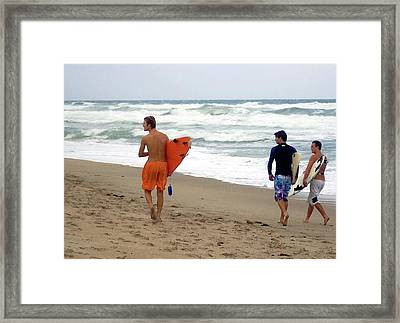Surfs Up Boys Framed Print