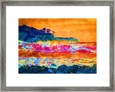 Surf's Up Framed Print by Eric Ewing