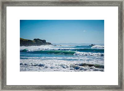 Surf's Up Framed Print by Omer Vautour