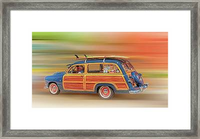 Framed Print featuring the photograph Surf's Up by Susan Rissi Tregoning