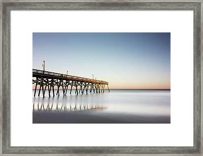 Surfside Beach Pier Mathew Aftermath Framed Print by Ivo Kerssemakers