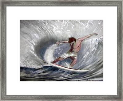 Surf'sup Framed Print by Patrick McClintock