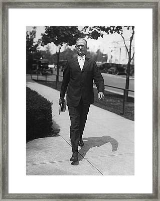 Surgeon General Walks To Work Framed Print by Underwood Archives