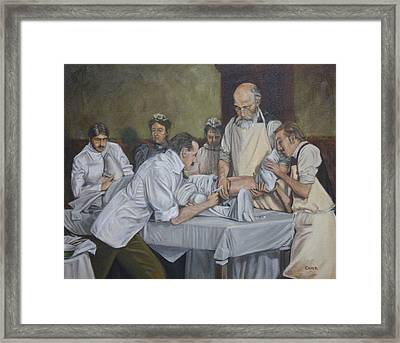 Surgery 1900 Framed Print