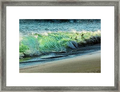 Surging Water Framed Print by Kelley King