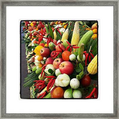 Framed Print featuring the photograph Surin Elephant Buffet by Mr Photojimsf
