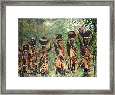 Surma Women Of Africa Framed Print