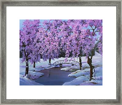 Surprise At Spring Time Framed Print