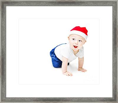 Surprise Christmas Baby Framed Print by Jorgo Photography - Wall Art Gallery