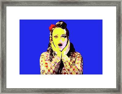 Surprise Me Framed Print by Elena Riim