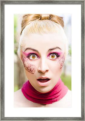 Surprised Face Framed Print by Jorgo Photography - Wall Art Gallery