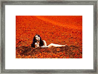 Surprised Martian Hatching Framed Print by Scott Sawyer