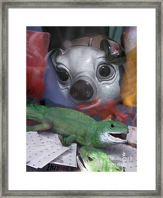 surreal animals fantasy art - Animal House Framed Print