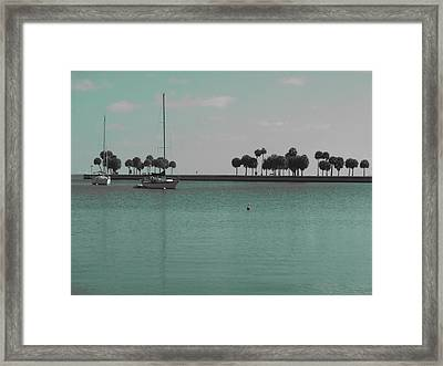 Surreal Bay Framed Print by Debby Polis Carter