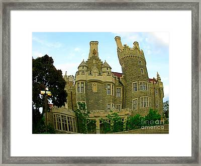 Surreal Castle Loma Framed Print by John Malone