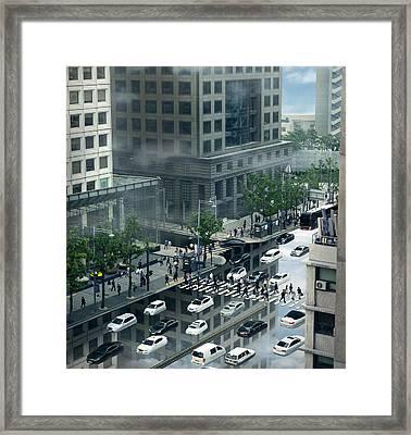 Surreal City Framed Print