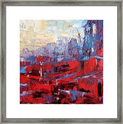 Surreal City Framed Print by NatikArt Creations