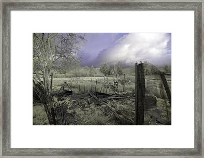 Framed Print featuring the photograph Surreal Cloud And Pasture by Chriss Pagani