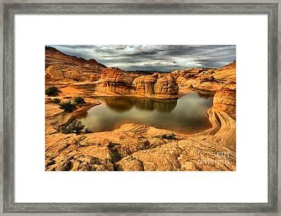 Surreal Desert Storm Landscape Framed Print by Adam Jewell
