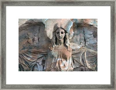 Surreal Fantasy Dreamy Angel Art Wings Framed Print by Kathy Fornal
