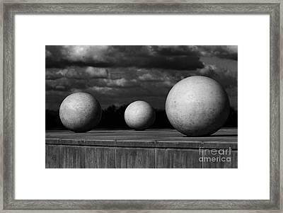 Surreal Globes Framed Print