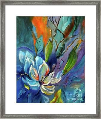 Surreal Magnolias Framed Print