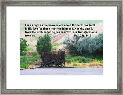 Surreal Old Wagon Ps.103 V 11-12 Framed Print by Linda Phelps