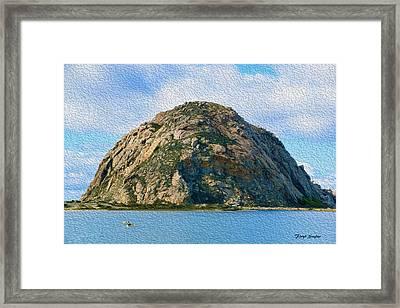 Surreal Rock At Morro Bay Framed Print by Floyd Snyder