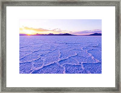 Surreal Salt Framed Print by Chad Dutson