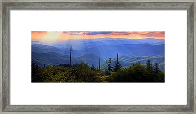 Surreal Smokies Framed Print