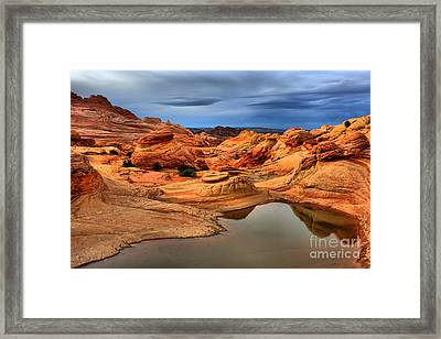Surreal Stormy Landscape Framed Print by Adam Jewell