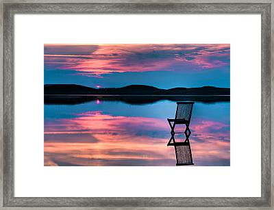 Surreal Sunset Framed Print by Gert Lavsen