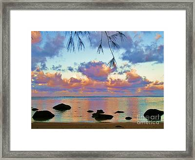Surreal Sunset Framed Print by Michele Penner